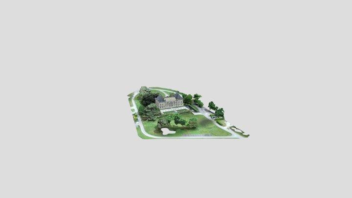 Château Bel-Air FC Girondins de Bordeaux 3D Model