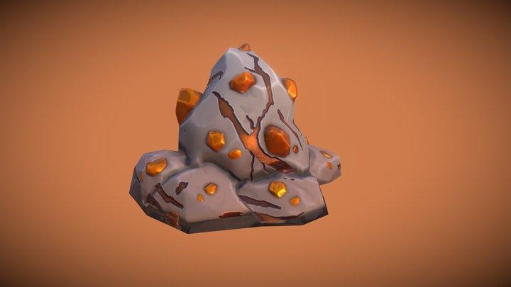 Proptober Day 11: Iron Ore Vein 3D Model