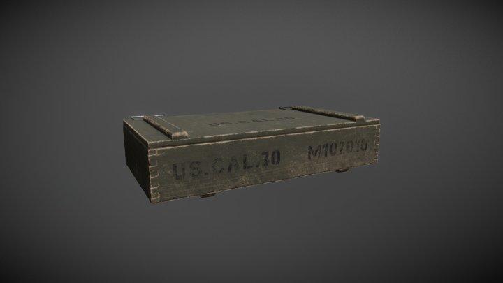 Wooden ammo box 3D Model