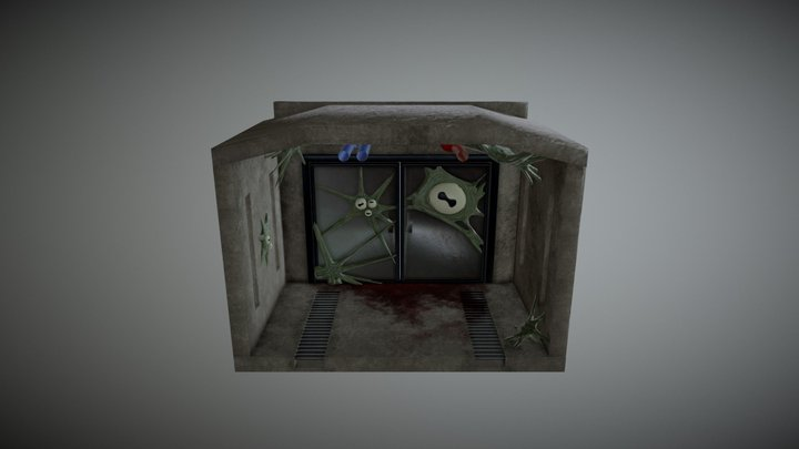 Infected Bunker 3D Model
