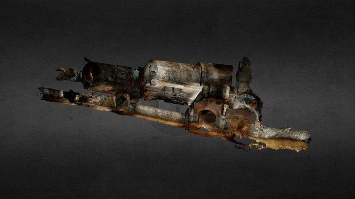 Grube Landeskrone, Dampfmaschinenhalle 3D Model