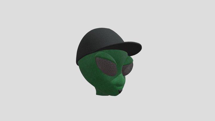 Cabeza Alien PadrinoStickers 3D Model