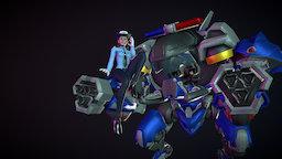 [Fanart] Overwatch - Officer DVA & Mech 3D Model