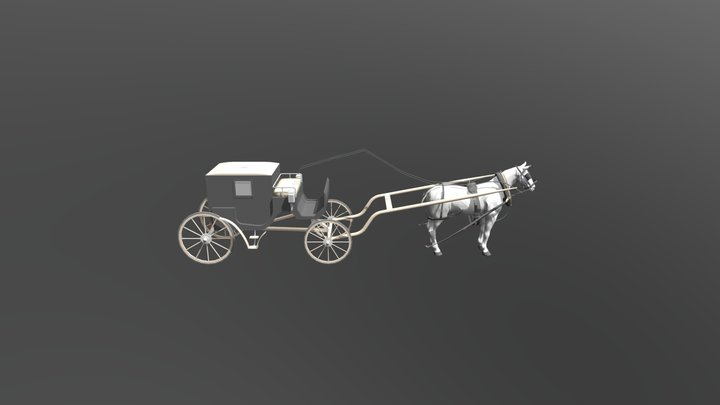 Carriage_horse 3D Model