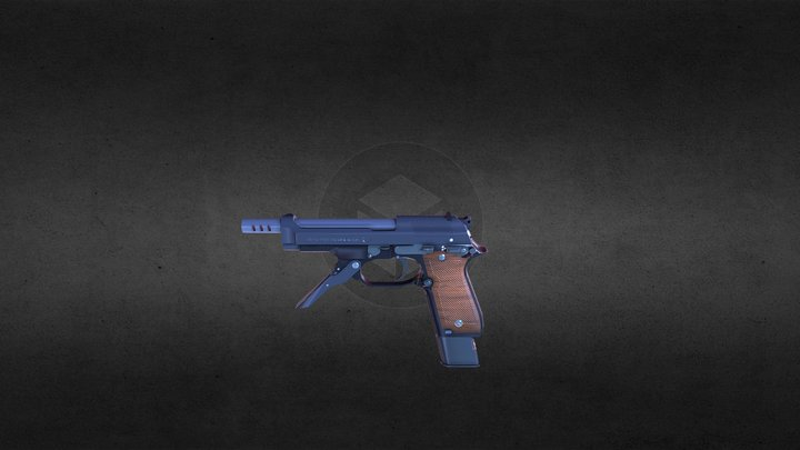 Beretta 93R 3D Model