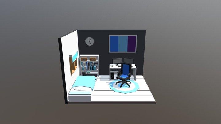 Bedroom - Blue 3D Model