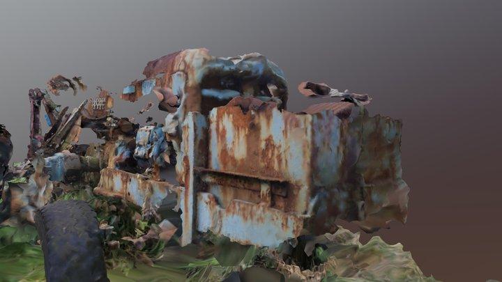 Backhoe 2 - iPhone Edition (MeshRoom) (WIP) 3D Model