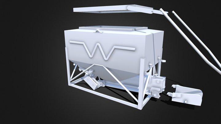 Welker #2000 Portable Cattle Feeder - 1/64 Scale