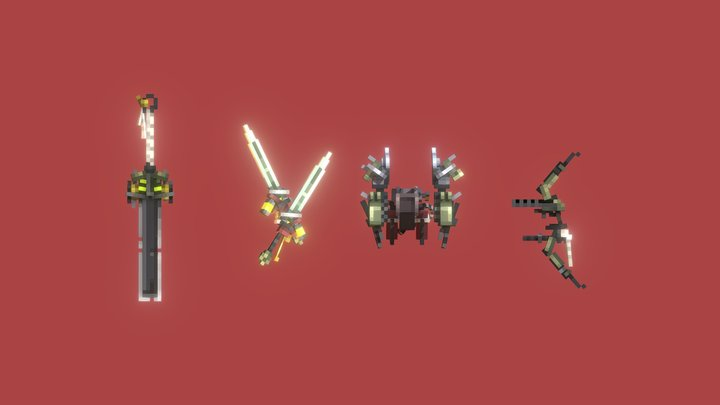 Rangers weapons 3D Model