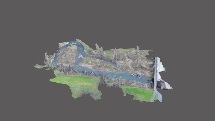 Hamilton Creek Simplified 3d Mesh 3D Model