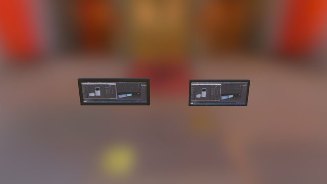 Monitor de Pantalla 3D Model