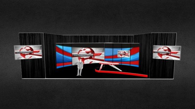 dieTAGESPRESSESHOW stage 3D Model