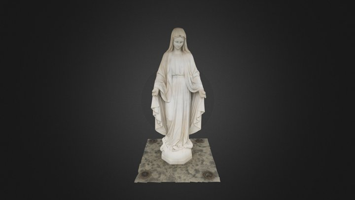 Virgin Mary Statue at Newport Central Catholic 3D Model