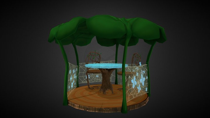 Fantasy Alcove Cartoon Style 3D Model
