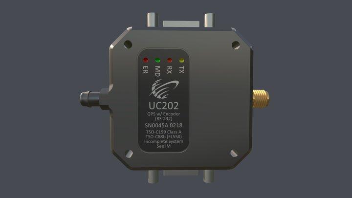 UC202 Altitude Encoder & GPS 3D Model