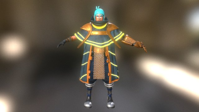 Marv - The Magical Mage - t-pose 3D Model