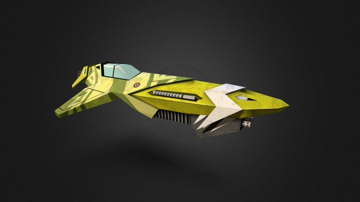 Wipeout Craft 3D Model