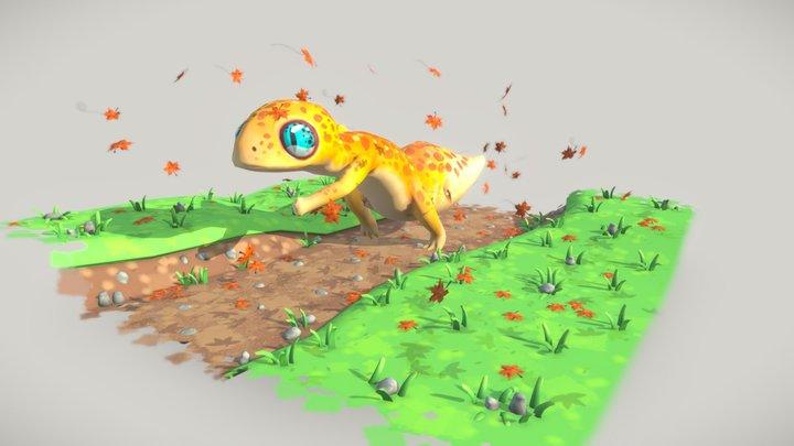 Leopard Runner 3D Model
