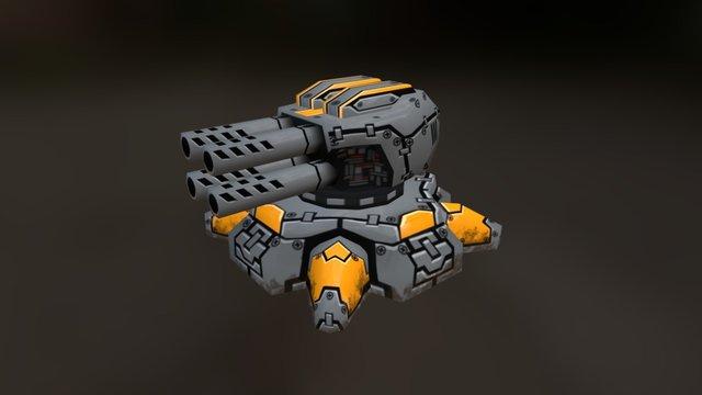 Turret 3lvl 3D Model