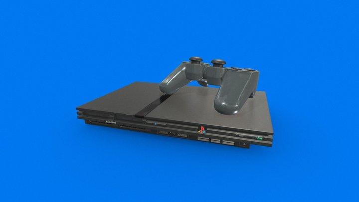 Playstation 2 Slim (Re-upload) 3D Model