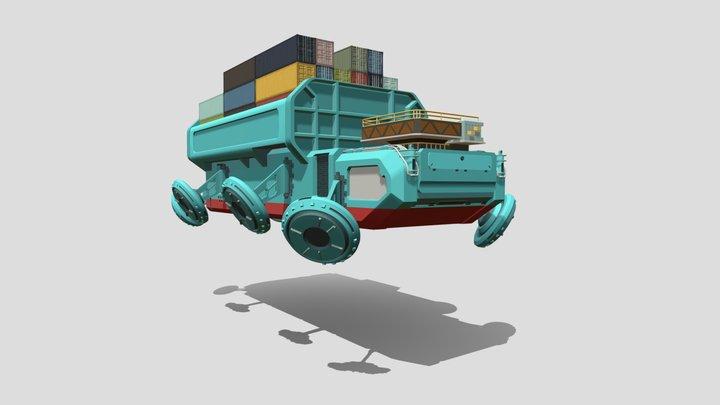 XYZS HW 08 - Details 01 - Maersk Line 3D Model