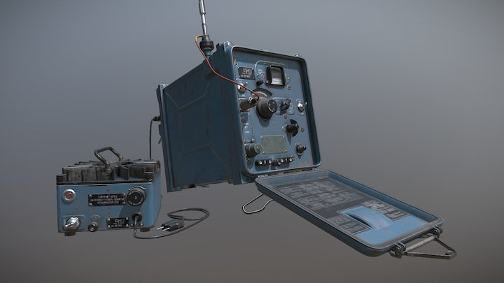 Russian R323 UHF Receiver 3D Model