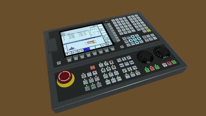 CNC Control Panel 3D Model