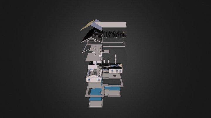 House 01 Exploded 3D Model