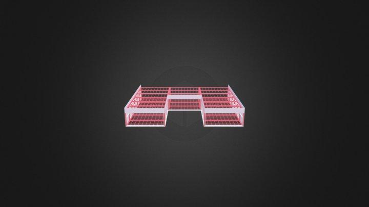 Panel Frame Window 3D Model