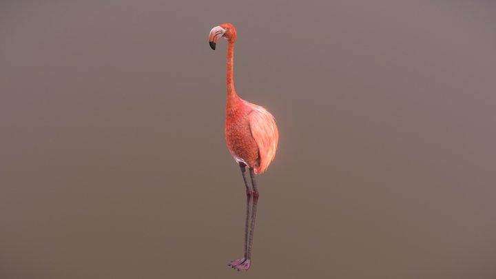 Flamingo Golf Putter 3D Model