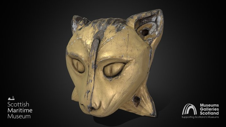 Cat's head from the Cutty Sark 3D Model