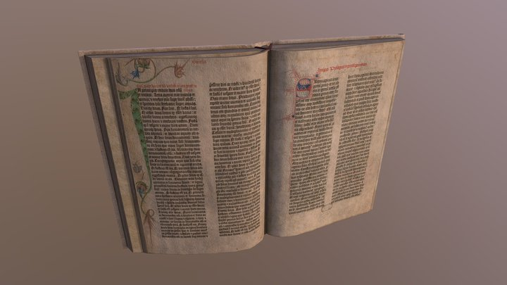Medieval Open Book 2 3D Model