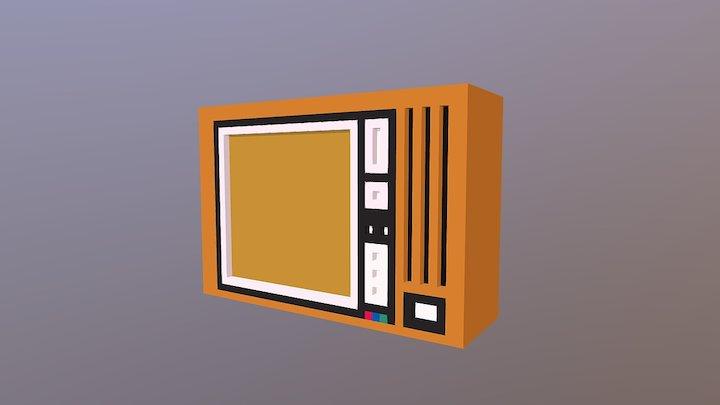 Voxel Television 3D Model