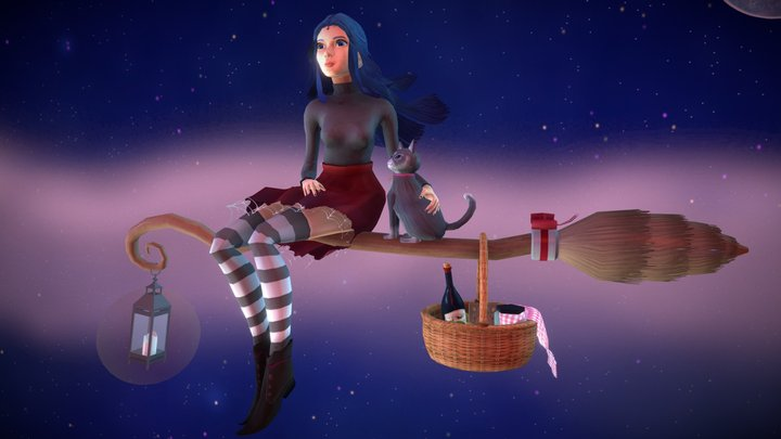 A witch's journey 3D Model