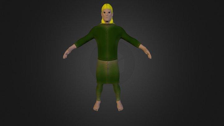 Legolas cartoon 3D Model