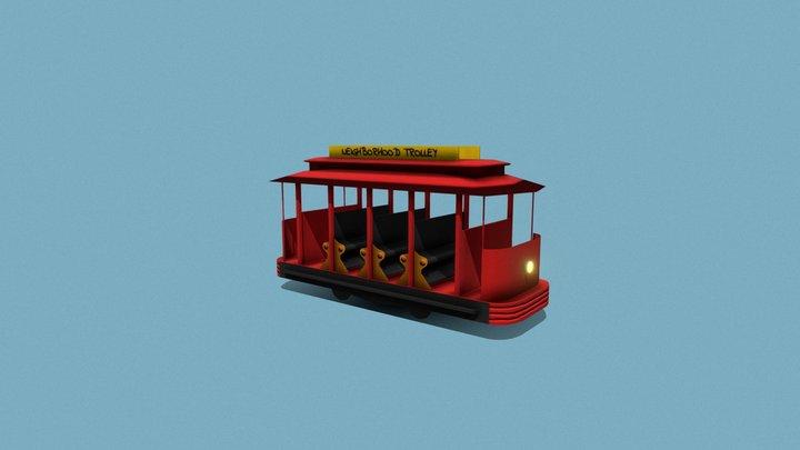 Neighborhood Trolley 3D Model