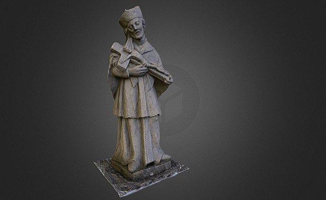 Sculpture of St. John Nepomuk 3D Model