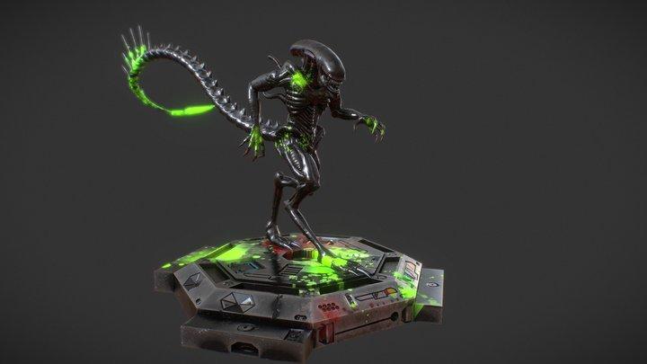 Xenomorph - Bloody Alien  Substance source 3D Model