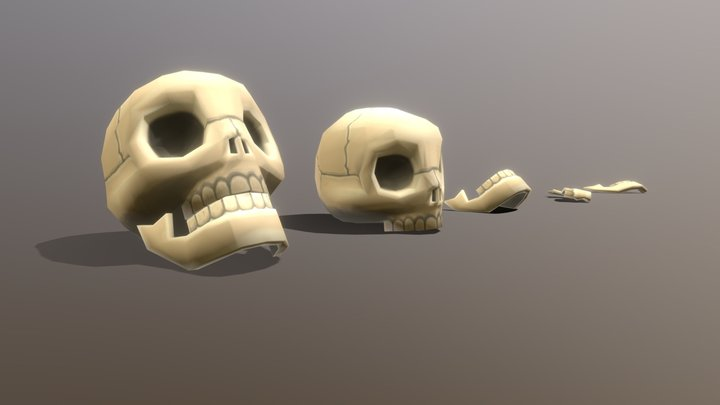 Pirate Skulls 3D Model