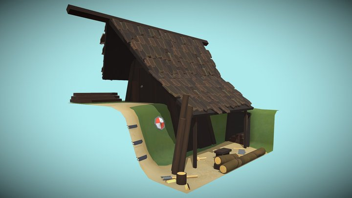 Viking Lumber Mill 3D Model