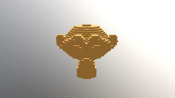 Pixel Monkey 3D Model