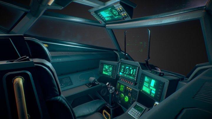 Stingray MKIII Cockpit 3D Model