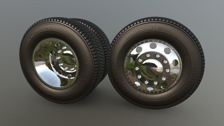 3D model-truck Wheel. 3D Model