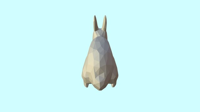 Rabbit Low Poly Rigged 3D Model