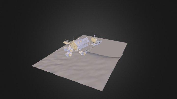fishing dock 3D Model