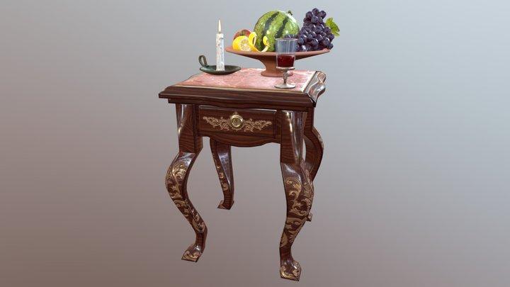 Table PBR 3D Model