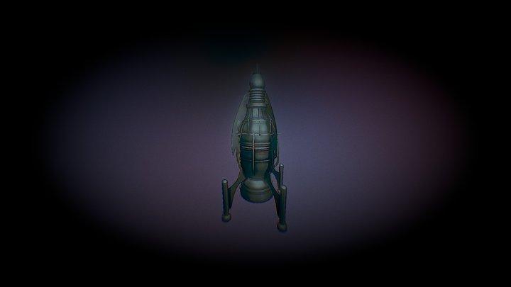 ancient Spaceship 1860 3D Model