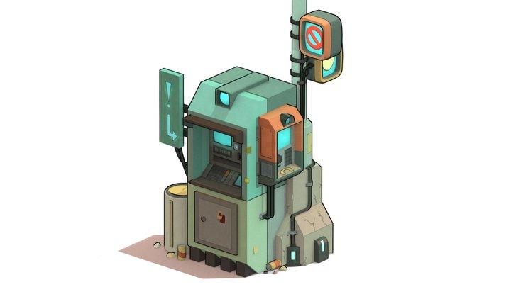 Cyberpunk ATM 3D Model