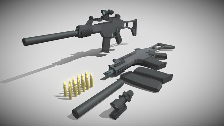 HK G36C 3D Model