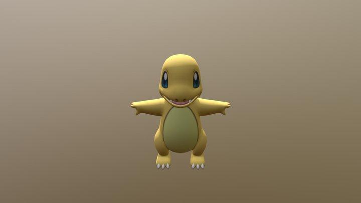 3DS - Pokemon X Y - 004 Charmander Shiny 3D Model